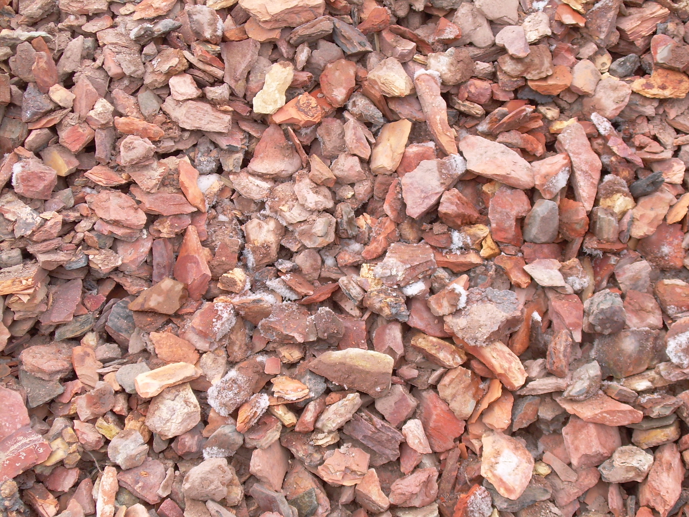 Landscape supplies materials for Red stone landscape rock